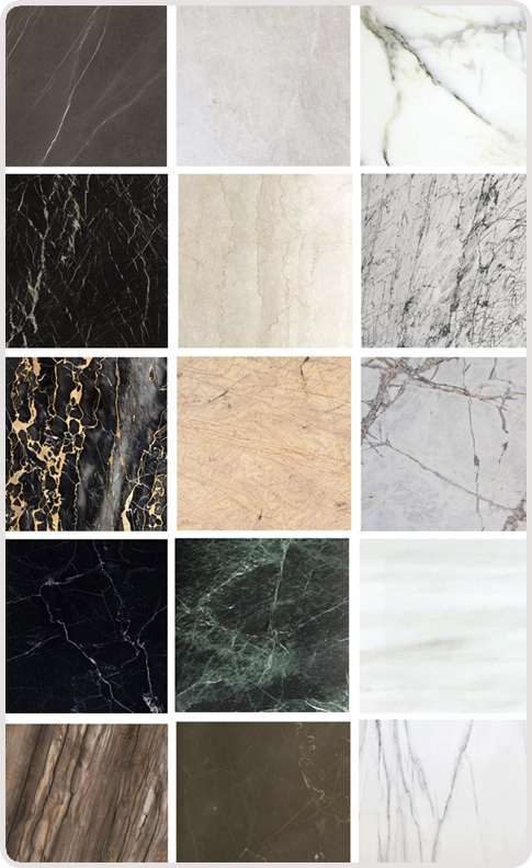 types of marble