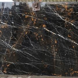 Black & Gold Marble Slab
